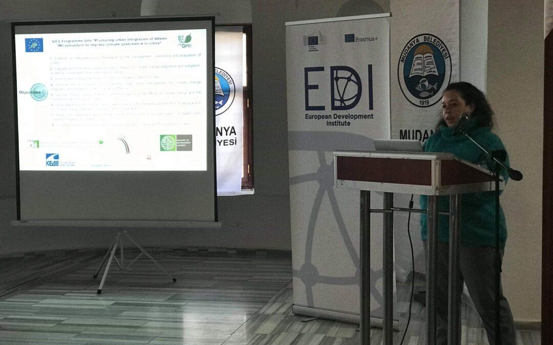 Παρουσίαση του έργου LIFEGrIn στην Τουρκία