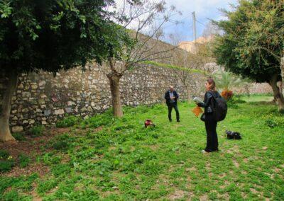 Δειγματοληψία στο Πάρκο των Τειχών, Δ. Ηρακλείου