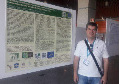 Dr. N. Proutsos presenting the poster: Promoting urban integration through green infrastructure incorporation to improve climate governance in cities