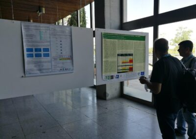 Dr. N. Proutsos presenting the poster: Analyzing temperature attributes for the last half century in Heraklion – Crete, Greece