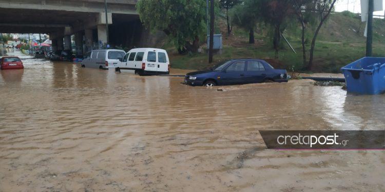 Ακραίες βροχοπτώσεις στο Ηράκλειο
